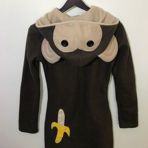 Cozy Monkey Costume Dress Hoodie in size Large